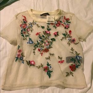 See through urban outfitters shirt size s NEW